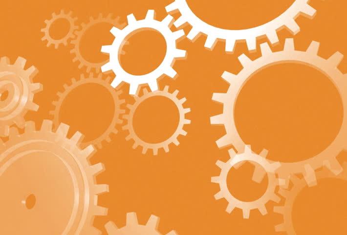 Orange Gears Engineering Technology Backdrop - Soft ...  Orange Gears En...