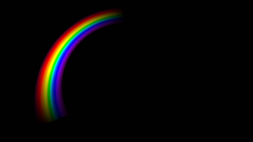 Stockvideoklipp P Rainbow In Black Background Helt Royaltyfria