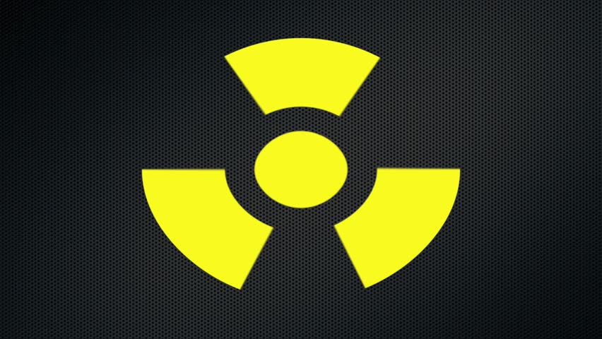 Stock Video Of Radioactive Danger Symbol With A Star 6881863
