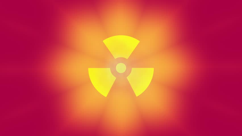 Stock Video Of Radioactive Danger Symbol With A Shine 6870265