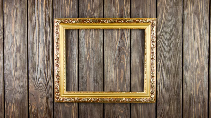Frame On Old Wood Background Stock Footage Video (100