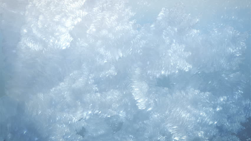 Frost Crystals Forming with Alpha