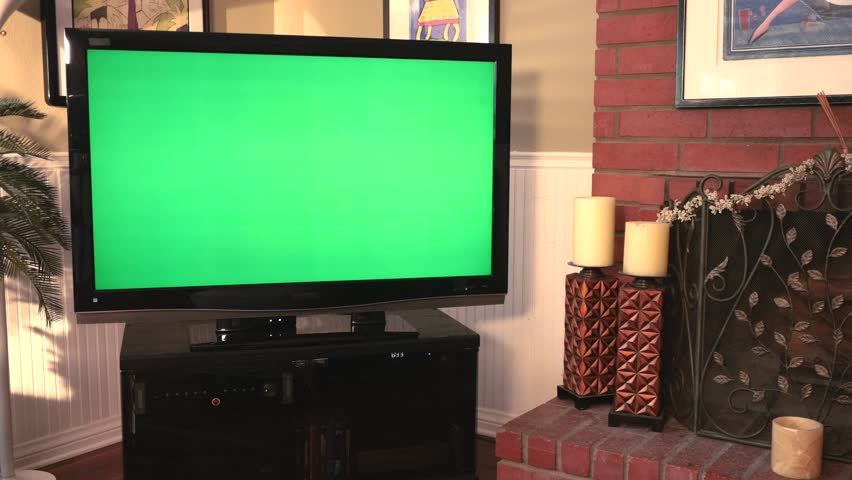 Dolly Move Into A Big Screen TV With Greenscreen. Stock Footage Video  6900433 | Shutterstock