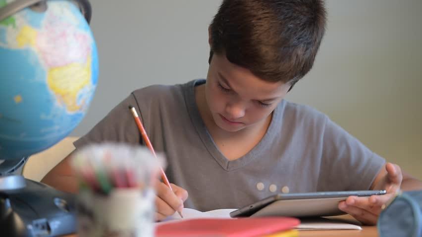Child, Student, Education, School, Writing,Digital school