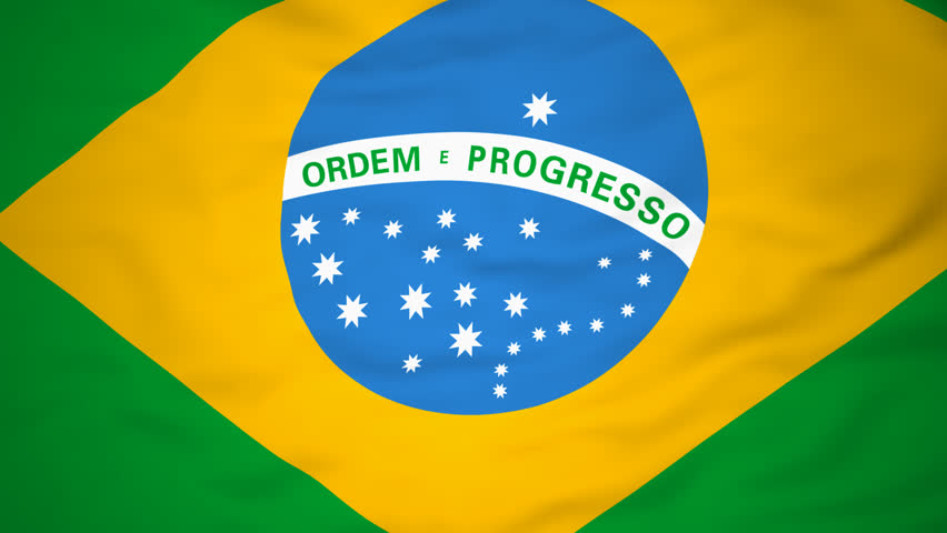 High-definition abstract 3d render Flag of Brazil, HD 1080p