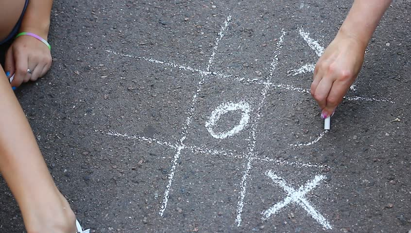 Tic-tac-toe a paper-and-pencil game playing