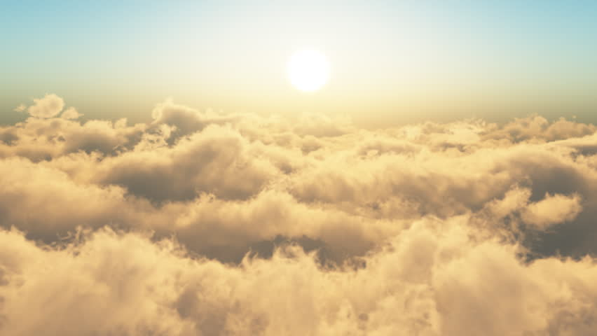 Flying Through The Clouds.Looop. Sunsrise.