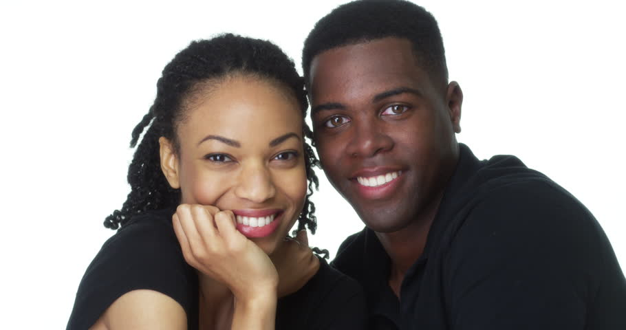 Happy Young Black couple looking at camera smiling | Shutterstock HD Video #7000360