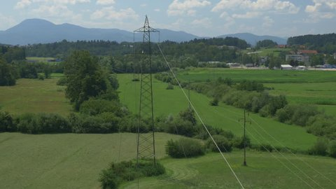 Radio Mast Antennae  Aerial Drone Stock Footage Video (100