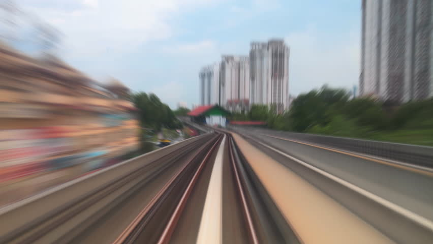 Urban train railways timelapse