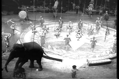 CIRCA 1950s - A circus starts its 1956 season opening at Madison Square Garden.