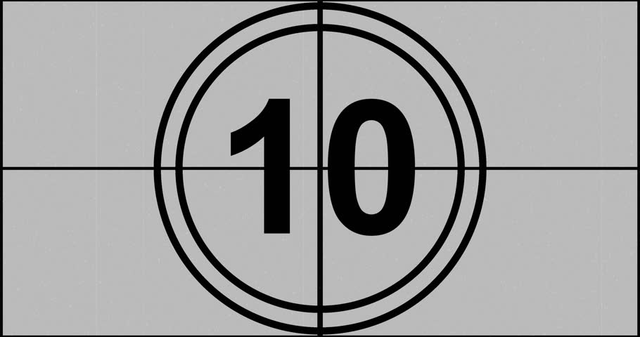 old film style 10 seconds countdown stock footage video