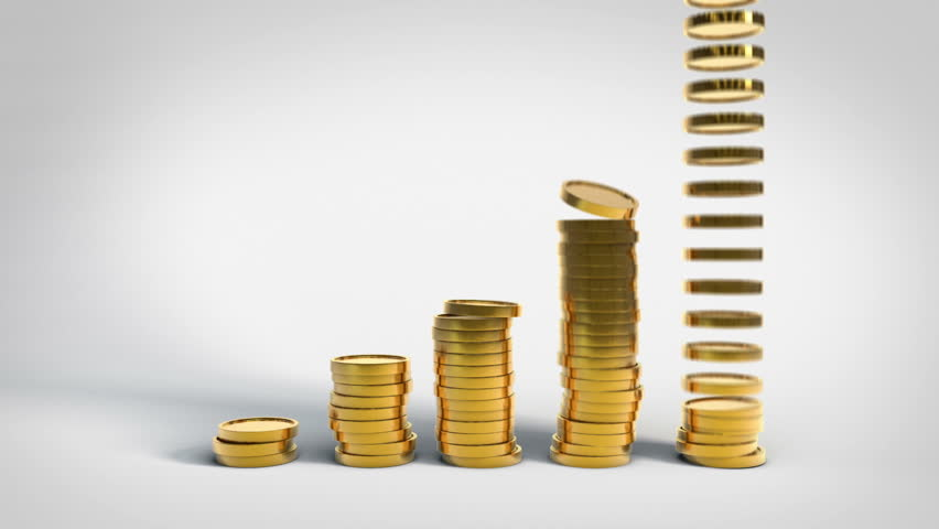 Gold Coins Stacking Up In Stock Footage Video 100 Royalty Free 7131163 Shutterstock