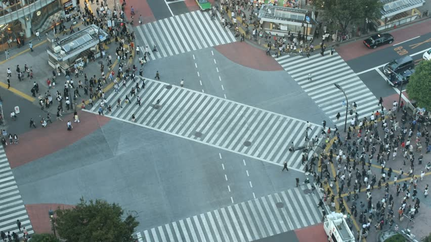Time-lapse Shibuya cross-walk | Shutterstock HD Video #713530