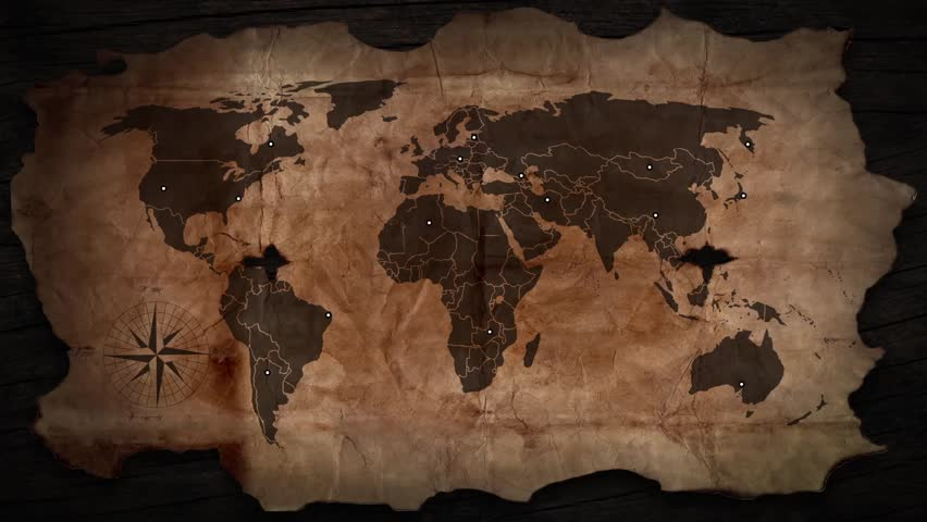 Vintage map of the world old paper background with earth map movement transport streams financial on the old card hd stock footage clip gumiabroncs Gallery