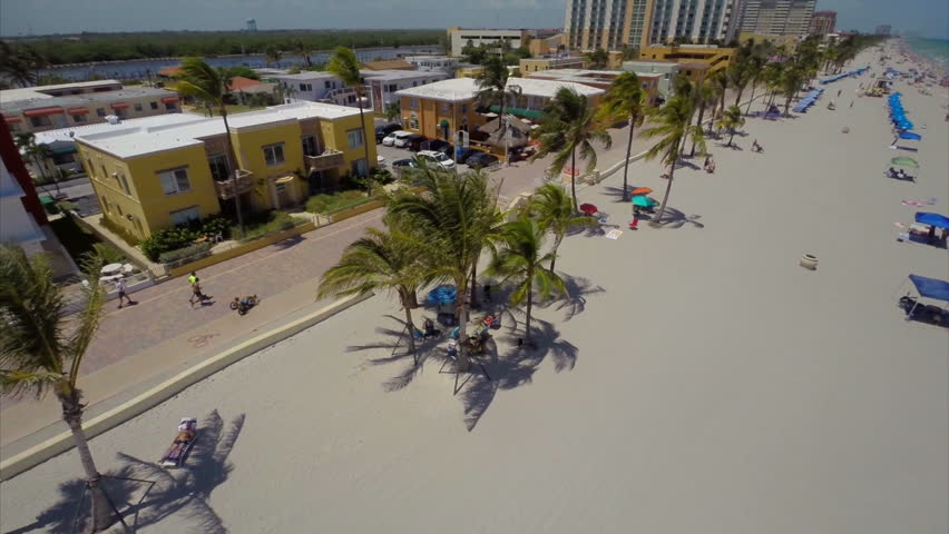 Hollywood Beach Aerial Drone Video