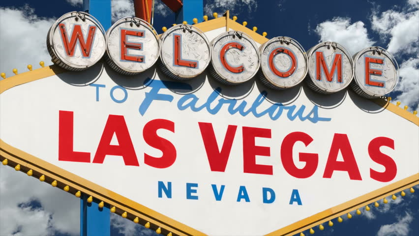 Welcome to fabulous Las Vegas sign time lapse clouds and zoom. | Shutterstock HD Video #7176349