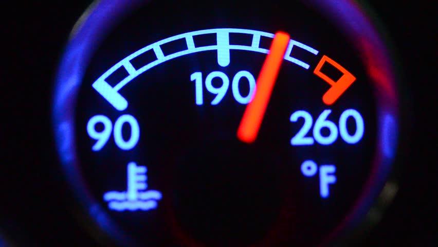 Coolant temp, Car temperature gauge | Shutterstock HD Video #7185403