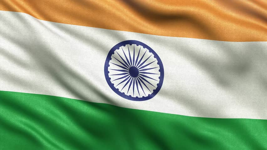 Indian Flag Animated: India Flag Stock Footage Video