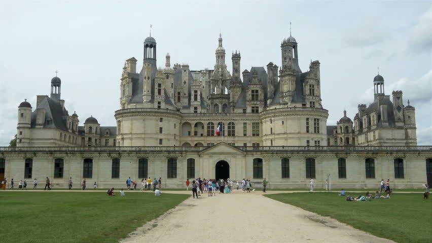 Assez CHAMBORD FRANCE - AUGUST 2013:Rear View Of The Chateau De Chambord  RR47