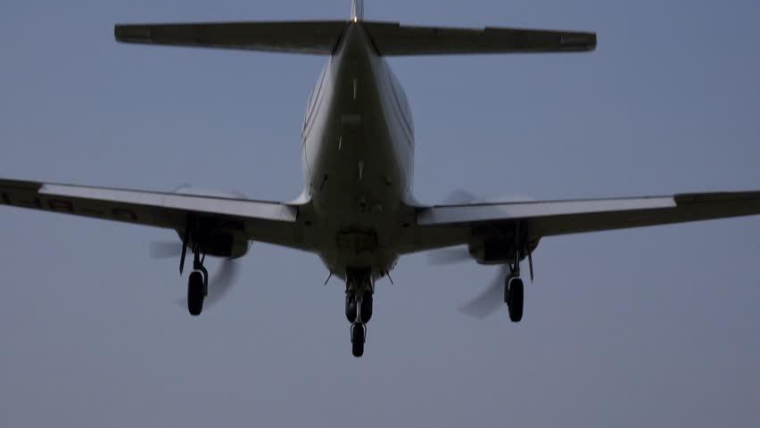JOHN LENNON AIRPORT, LIVERPOOL, ENGLAND - SEPTEMBER 5TH 2014: Commercial passenger airplane landing at airport | Shutterstock HD Video #7231483