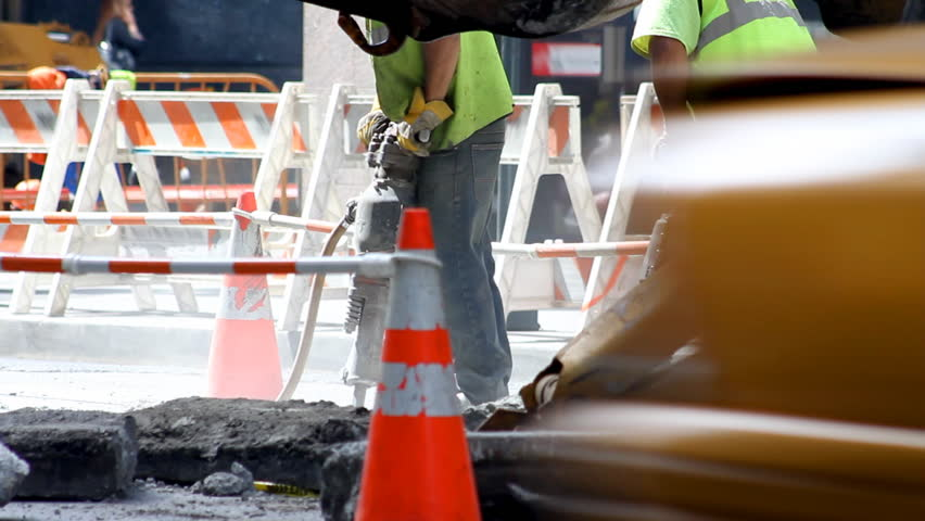 Construction Workers with Jackhammers