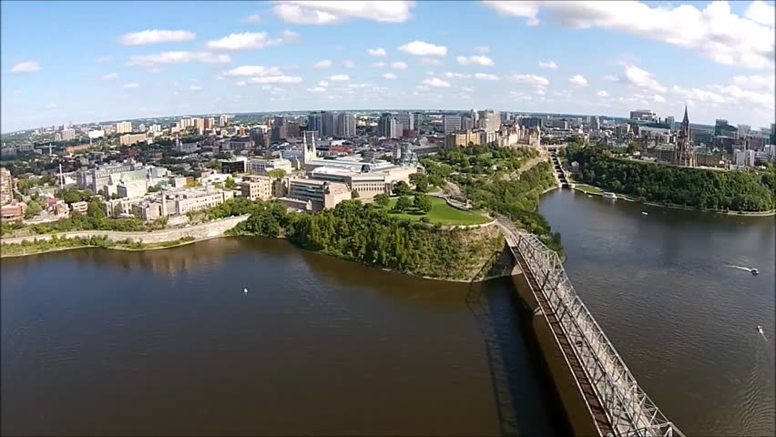 Ottawa River Downtown Aerial | Shutterstock HD Video #7280833
