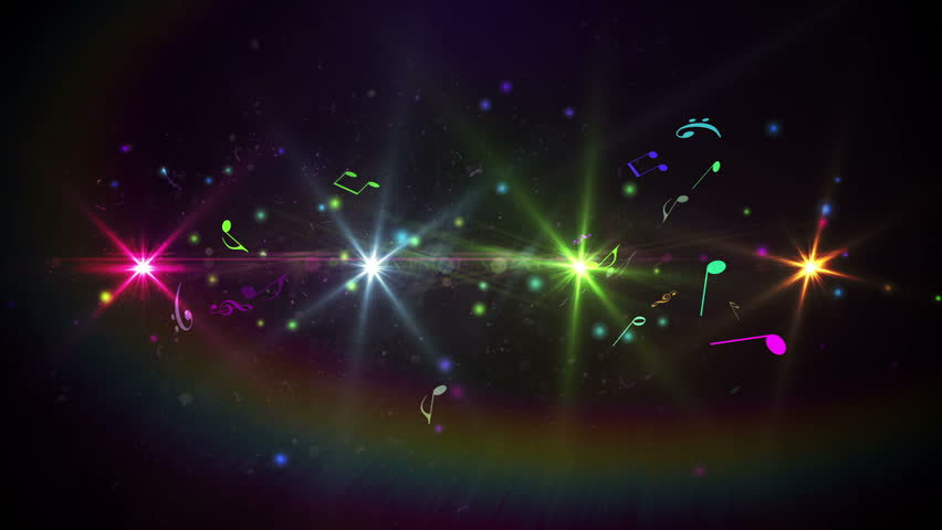 Digital animation of Colourful abstract music design on black | Shutterstock HD Video #7286998