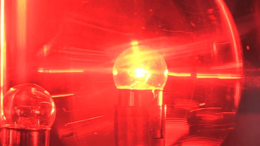 Spinning Red Emergency Flashing Light