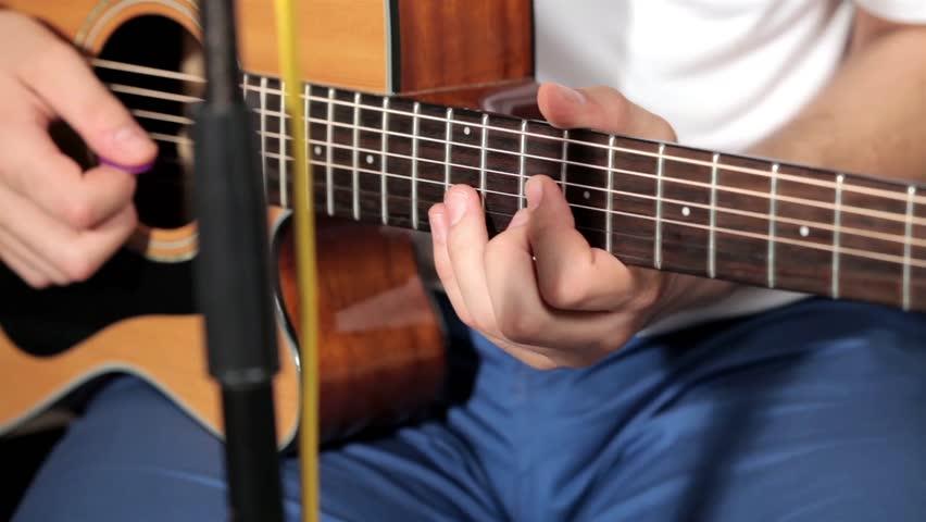 Guitar solo at classic guitar    Shutterstock HD Video #7314523