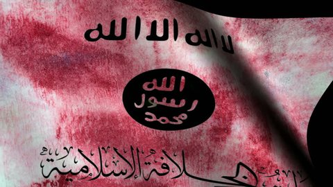 ISIS flag over the world