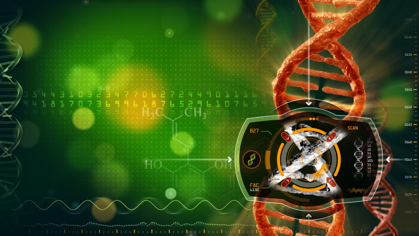 Abstract Animation of DNA Heat Signature Scan