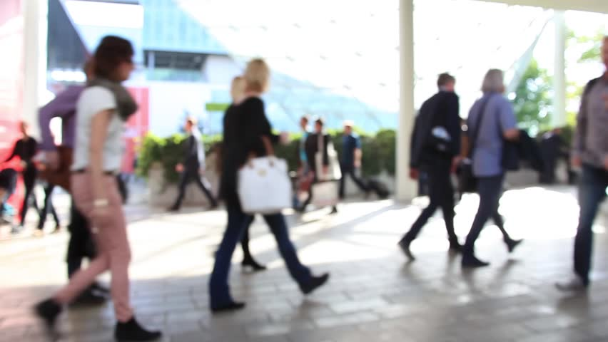 People walk, slow motion. Intentionally blurred background. | Shutterstock HD Video #7398208