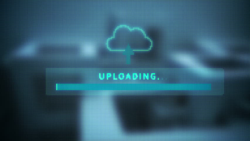 Upload screen progress bar