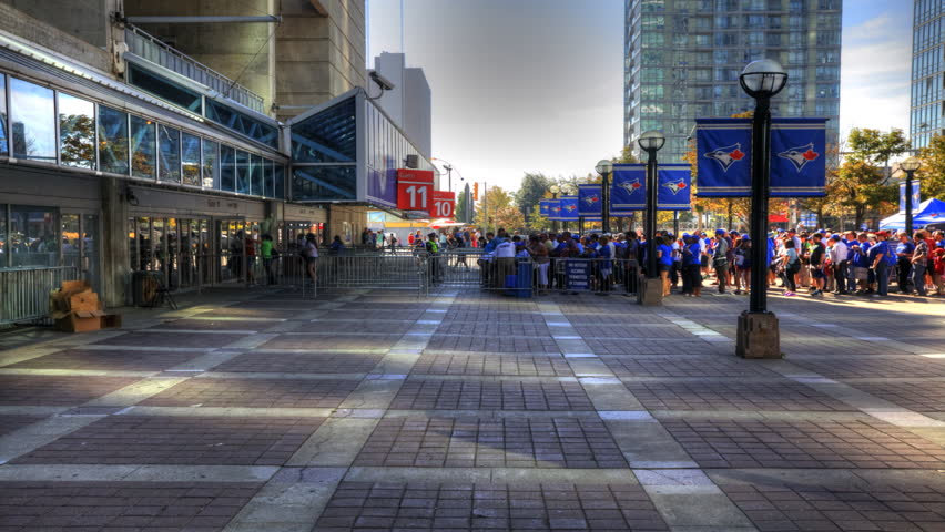 TORONTO, ONTARIO/CANADA – SEPT 24/2014: Blue Jays fans pour into Rogers Stadium, [TORONTO]