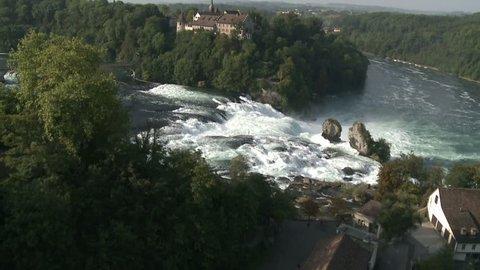 Swiss Waterfall Rheinfall Part 1