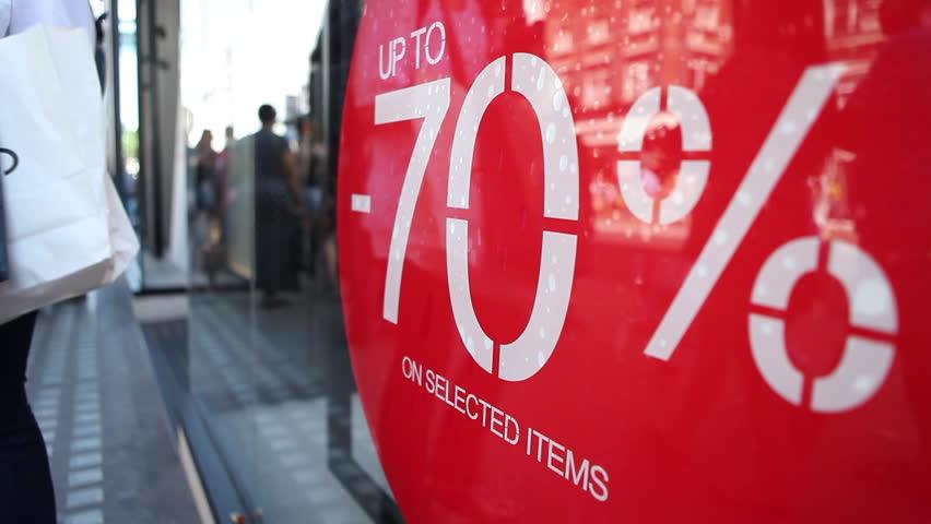 Massive sale crowds in store | Shutterstock HD Video #7508725