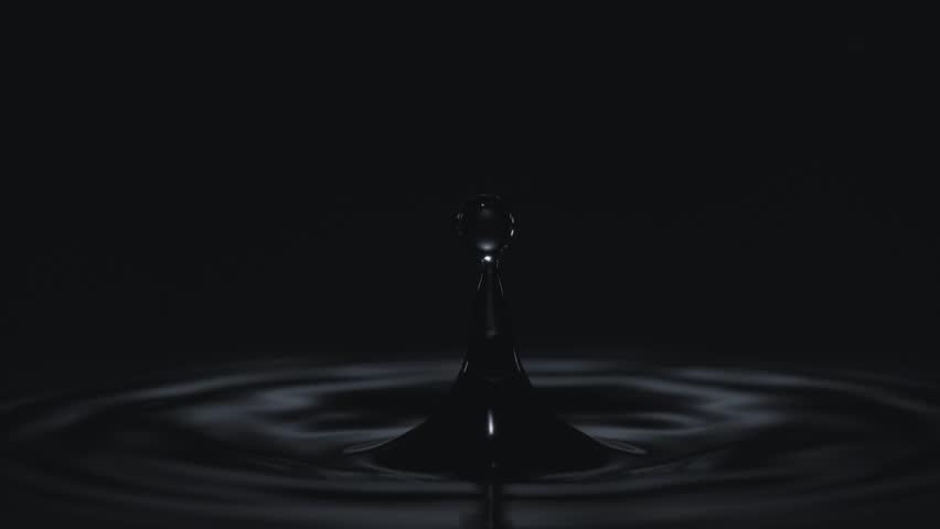 Water Drop making ripple against black background. Shot with high speed camera, phantom flex 4K. 4K 30fps. Slow Motion. | Shutterstock HD Video #7510303