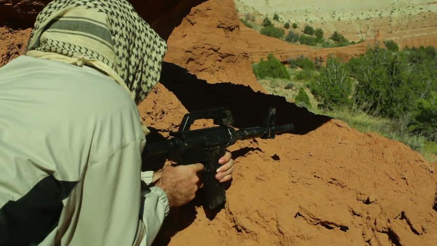 A terrorist in the desert