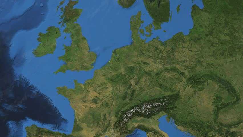 """Netherlands. 3d earth in space - zoom in on Netherlands contoured.  """"Elements of this image furnished by NASA"""""""