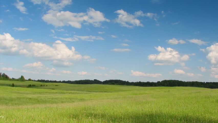 landscape, blue sky, timelapse