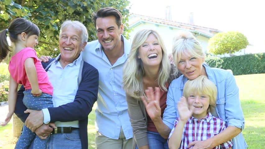 Portrait Of Happy Family At Stockvideos Filmmaterial 100