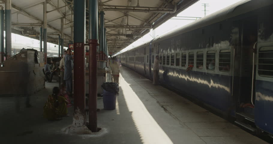 Time lapse of The New Delhi Railway Station. | Shutterstock HD Video #7596133