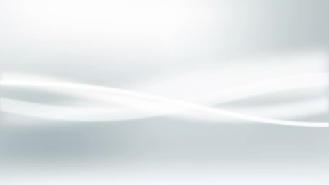 Abstract white waves in motion on light grey background. Loop animation