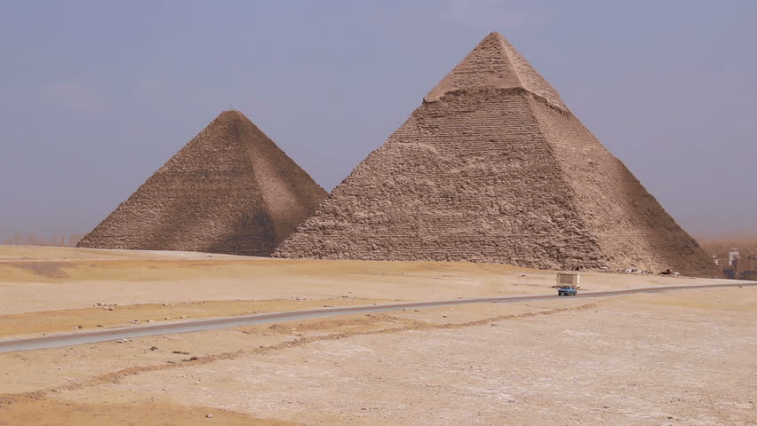 Great Pyramids In Giza Valley, Cairo, Egypt.   Shutterstock HD Video #7626013
