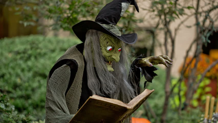 Wicked Witch Casting Spell In Halloween Horror Scene -5771