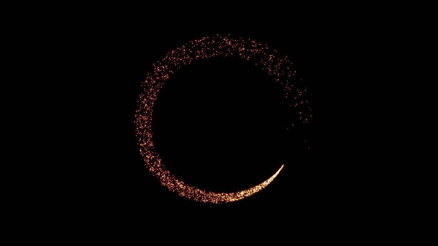 Gold glittering star glow dust circle