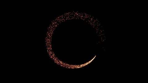 Gold glittering star glow dust circle