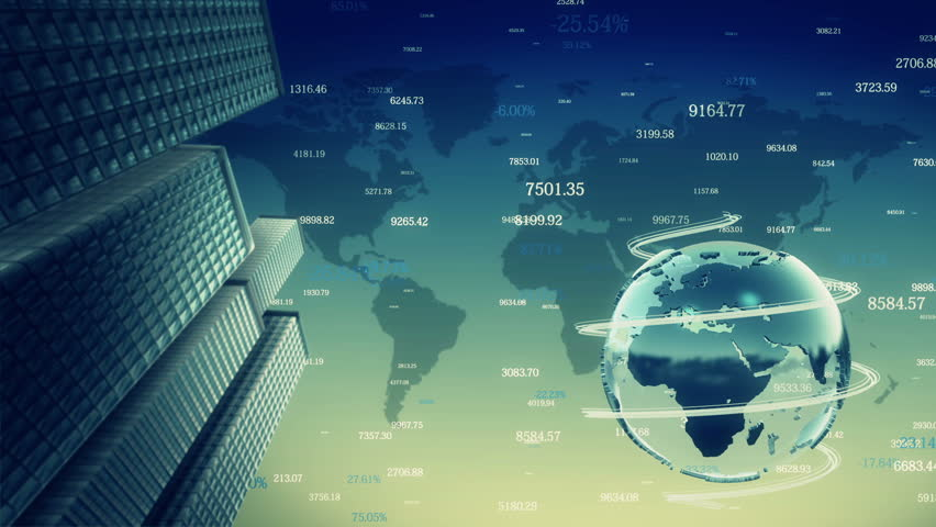 Business background with rotating planet. Loop animation.   Shutterstock HD Video #7651633
