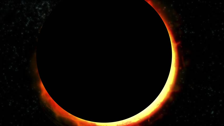 Solar Eclipse. A series of different scenes of a total solar eclipse.